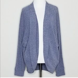 GAP Blue Ribbed Cocoon Cardigan